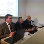 Hérick Campos, Director General de Turismo - Miguel Sandalinas, Alcalde de Montanejos - Vicent Gil Secretario General FVMP